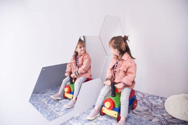 Child Safe Mirror - Hexagon Kindersichere Spiegel